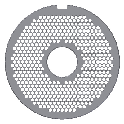 E130, Thick Hole Plate, Stainless Steel